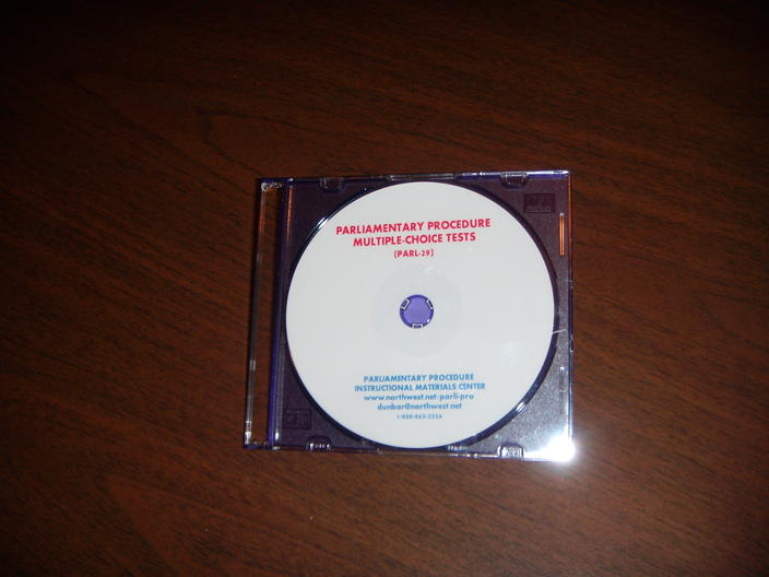 ★ BEST SELLING CD!! Parliamentary Procedure Multiple-Choic