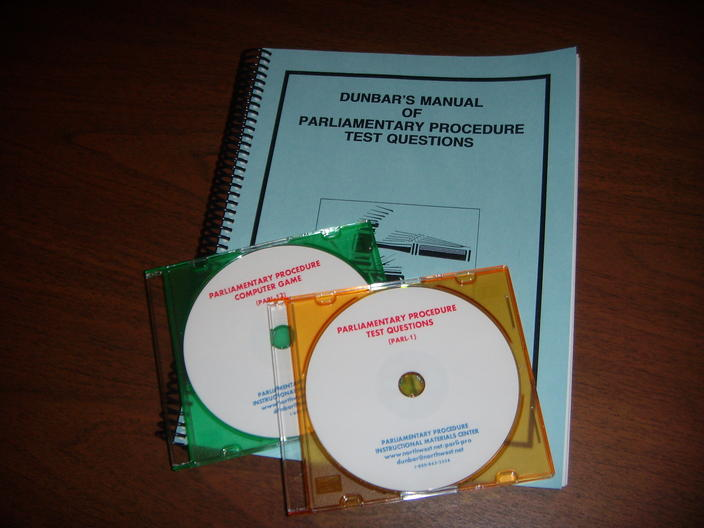 Parliamentary Procedure Software Package-SAVE $52.00 (PARL-17)